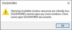 Warning window resources
