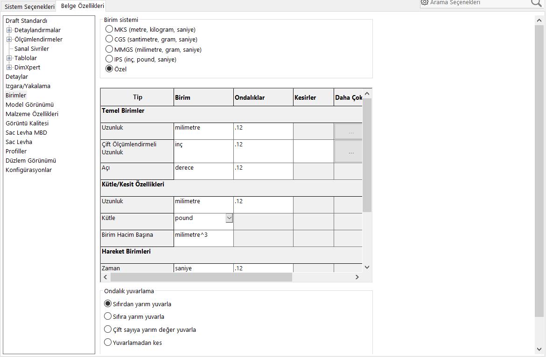 belge özellikleri-birimler