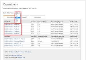 Version ve Product Seçim Ekranı