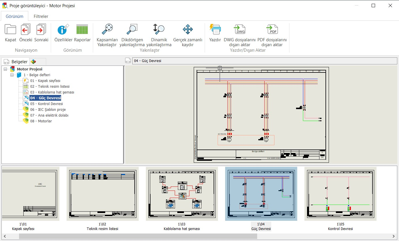 Electrical Viewer Proje ve İşlemler