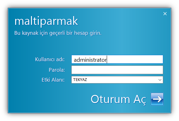sunucu bilgisayar administrator şifresi